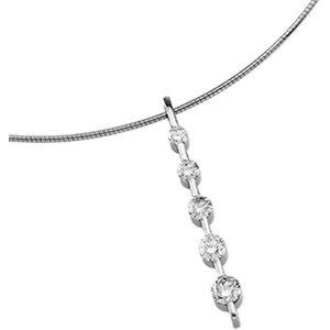 14kt. W.G. 1.00 ct Journey Diamond Pendant