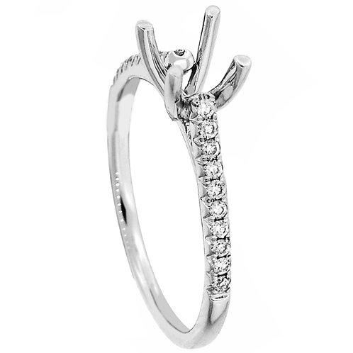 18 Kt. W.G. Semi-Mounting Ring/Non-Hailo