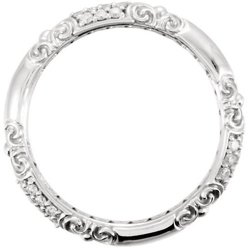 14 kt. White Gold 0.20ct.  Diamond Band