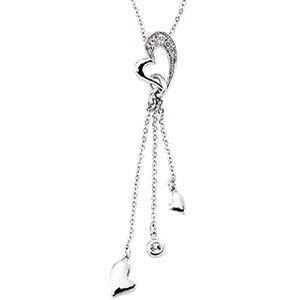 14kt. W.G. Diamond Heart Necklace