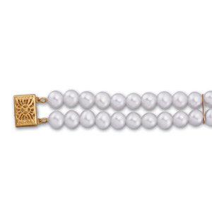 14kt. Y.G. Freshwater Cultured Pearl Bracelet