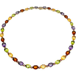 14kt. Y.G. Multicolored Necklace