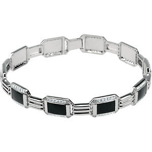 14kt W.G. 1.50 ct Diamond Men's Bracelet