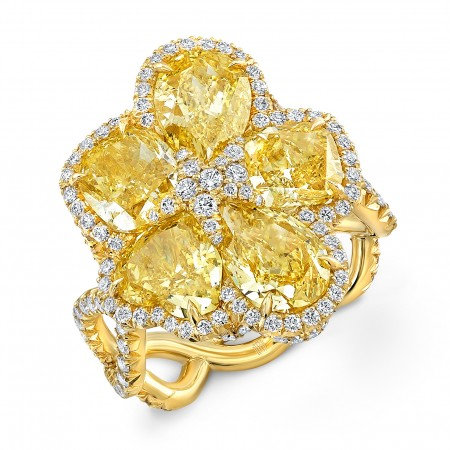 18kt. Yellow Gold Flower Ring