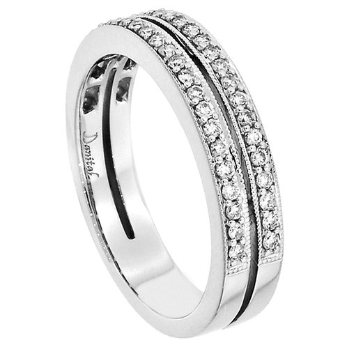 18 Kt. W.G. 46 Diamonds 0.29ct. Anniversary Band