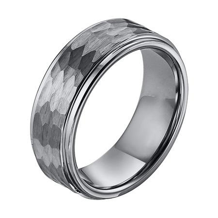 Tungsten Step Edge Comfort Fit Band