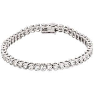 14kt. W.G. 3.33 ct Diamond Bracelet