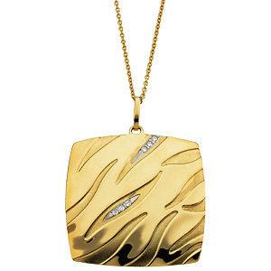 14kt. Y.G. Diamond Necklace