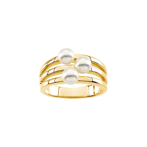 14kt. Y.G. Pearl Ring