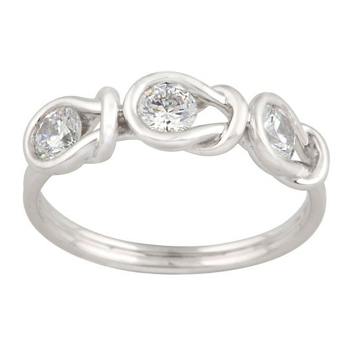 14kt. W.G. Knot Diamond Ring