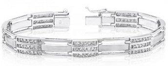 14kt. W.G. 2.00 ct Diamond Men's Bracelet