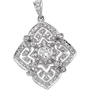 14kt. W.G. 0.50 ct Diamond Pendant