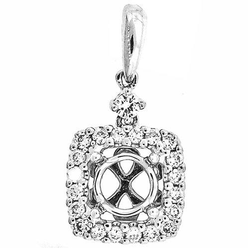 18kt. W.G. Diamond Pendant