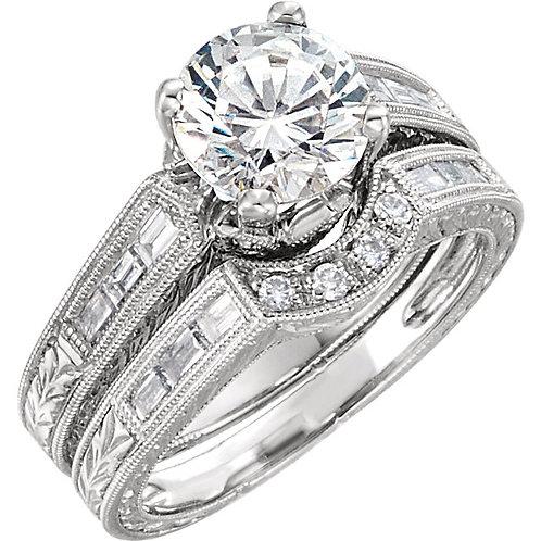 14kt W.G. Diamond Engagement Ring