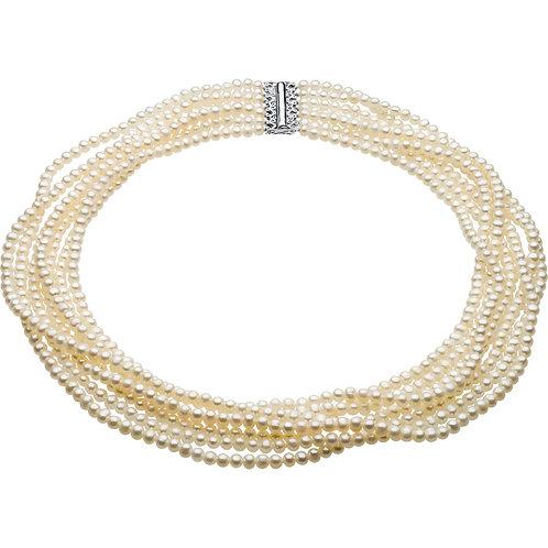14kt. W/Y.G. 7 Strands Necklace