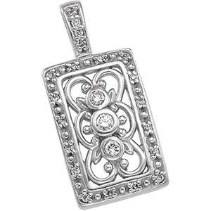 14kt. W.G. 0.20 ct Diamond Pendant