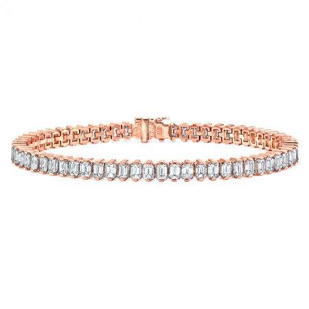 18kt Rose Tennis Bracelet