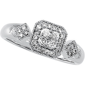 14kt. W.G. 0.33ct. Diamond Ring