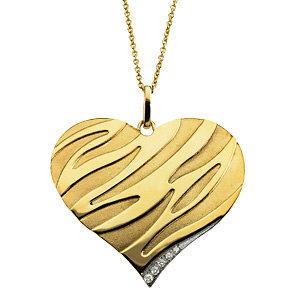 14kt. Y.G Diamond Heart Necklace