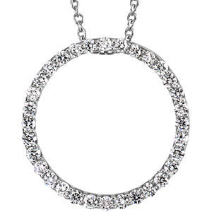 Platinum 0.50 ct Diamond Circle Pendant