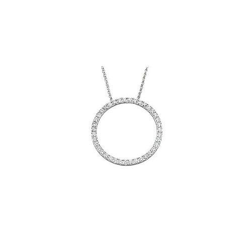 14kt. W.G. 1.00ct. Diamond Circle Necklace