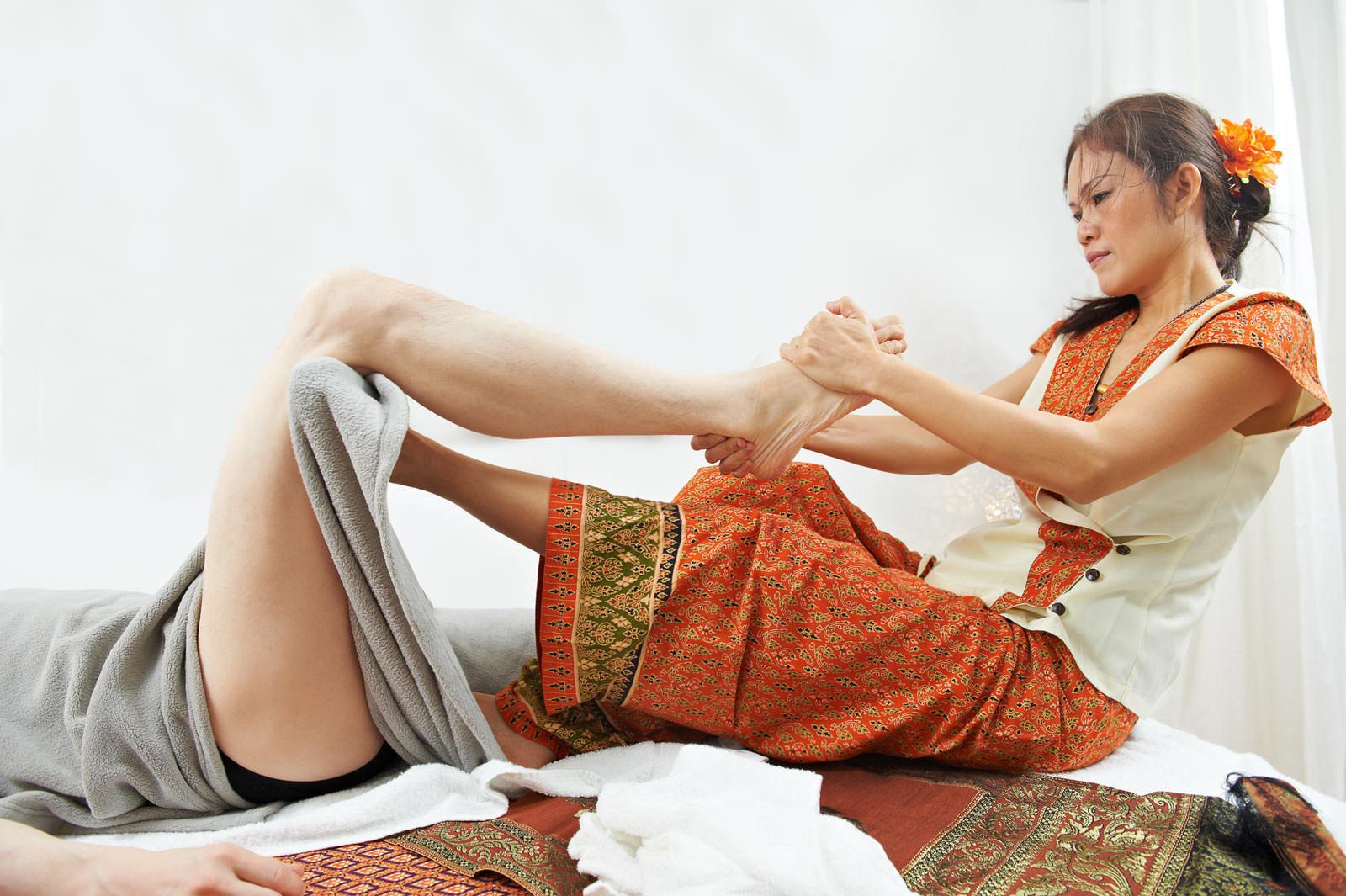 Tradisjonell Thai massasje uten olje