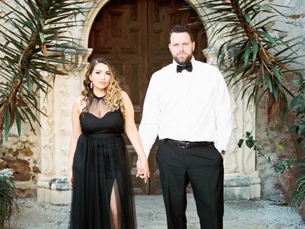 Tabitha + Mathew | San Antonio Missions | Engagement