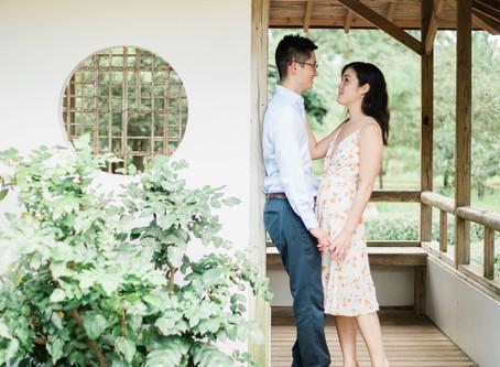 Houston Engagement | Insun + Dorothy |  Peaceful Japanese Gardens