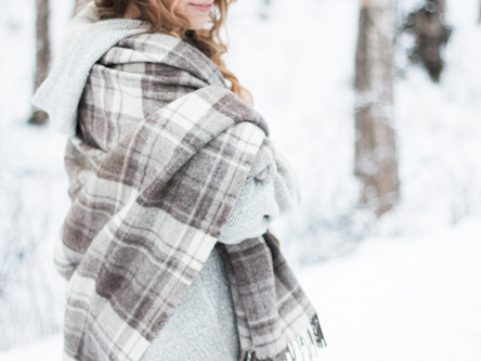 National Portrait Photography | Aubrey's Portrait Session in the snow