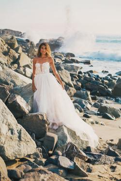 monique lhuillier Custom Wedding Dress California Destination Wedding Gown Photographer