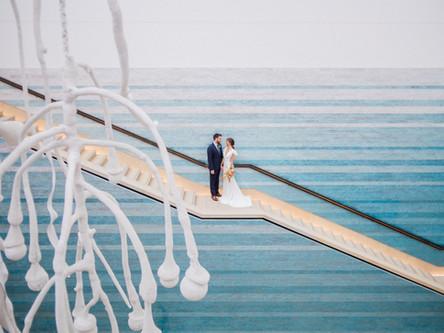Desert Meets Ocean Wedding Inspiration | Austin Wedding | Blanton Museum