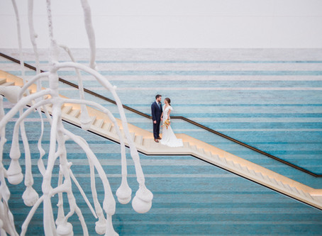 Desert Meets Ocean Wedding Inspiration | Austin Wedding | Blanton Museum