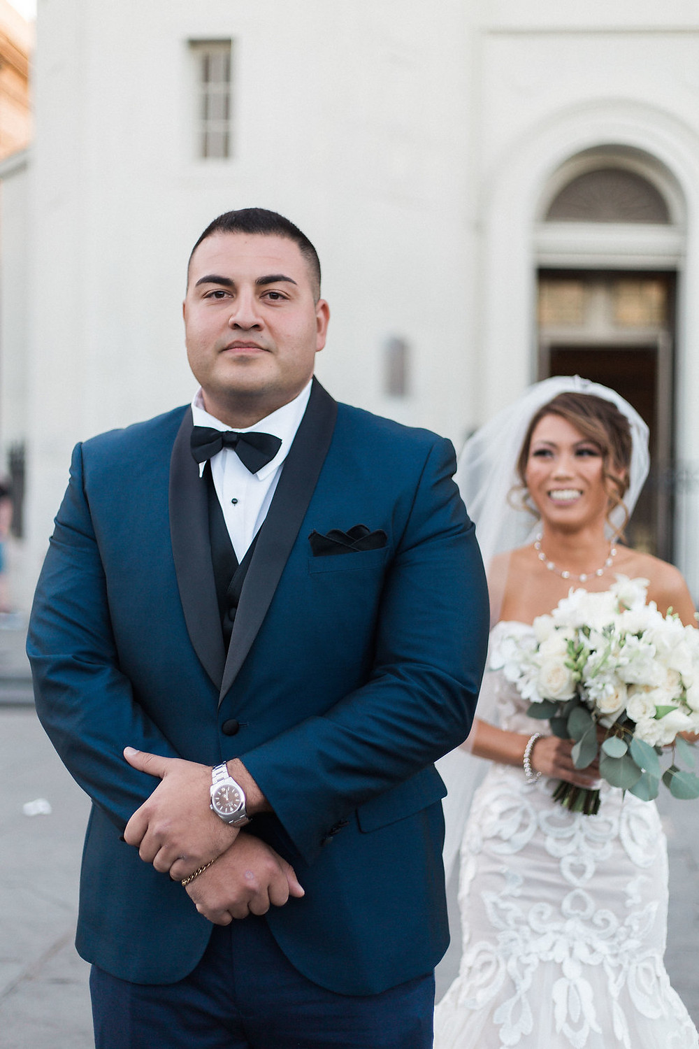 First Look New Orleans Wedding