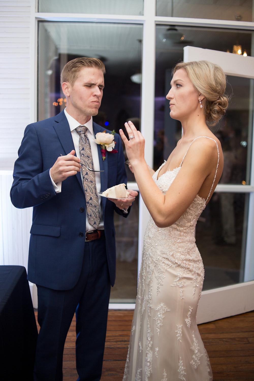 Austin Wedding Cakes Mercury Hall Wine and Navy Wedding Photographer