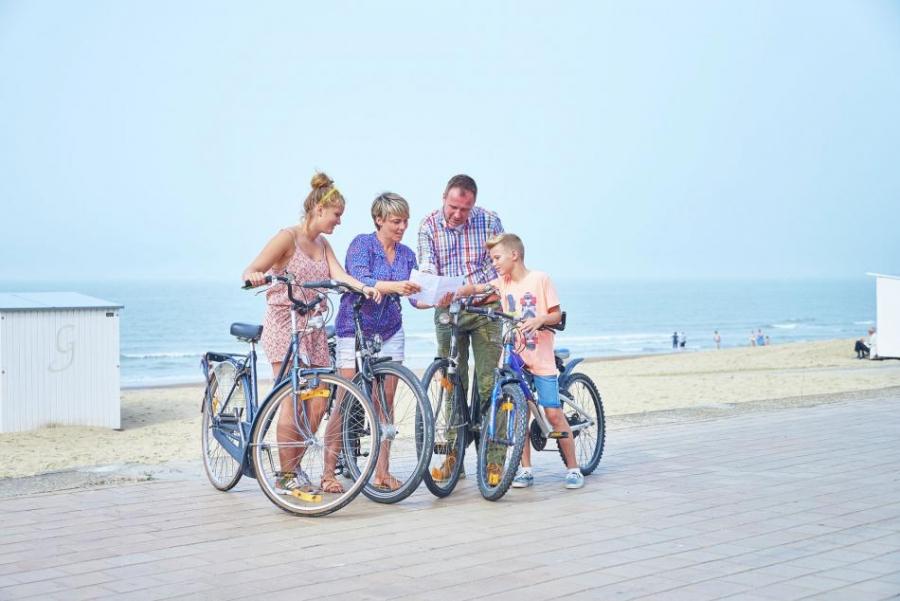 gastenverblijf de arend fietsen aan zee.