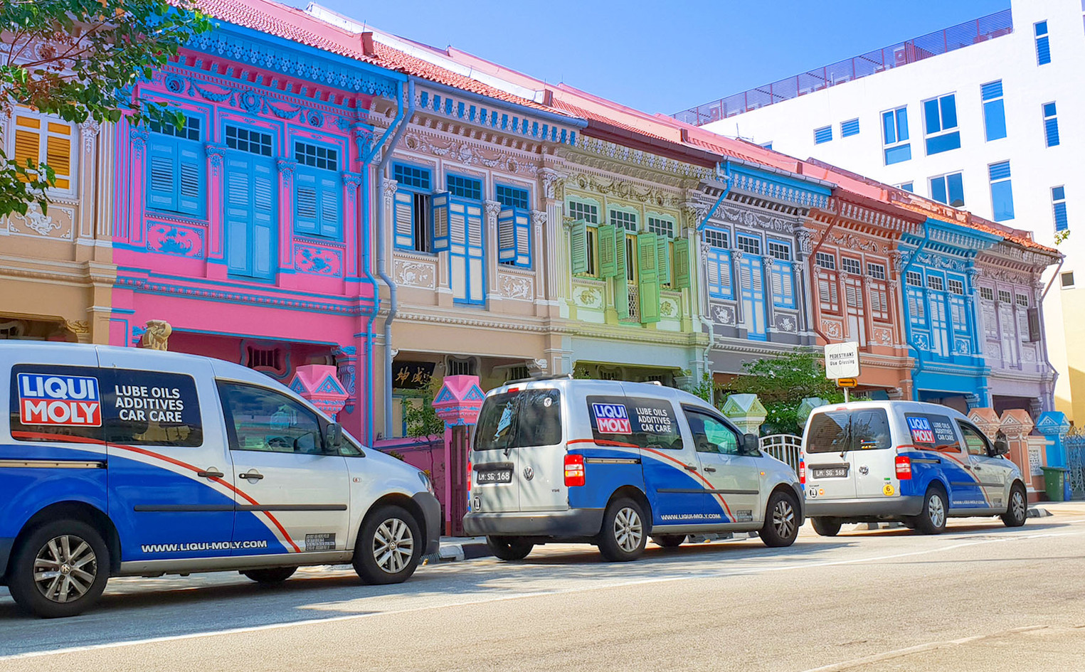 Colourful heritage shophouses at Joo Chi