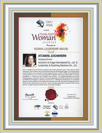 Woman Leadership Award to Atchara Juicha