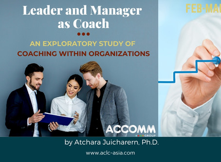 Leader and Manager as Coach - An exploratory study of coaching within organizations