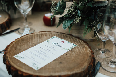 Wedding Rustic Menu