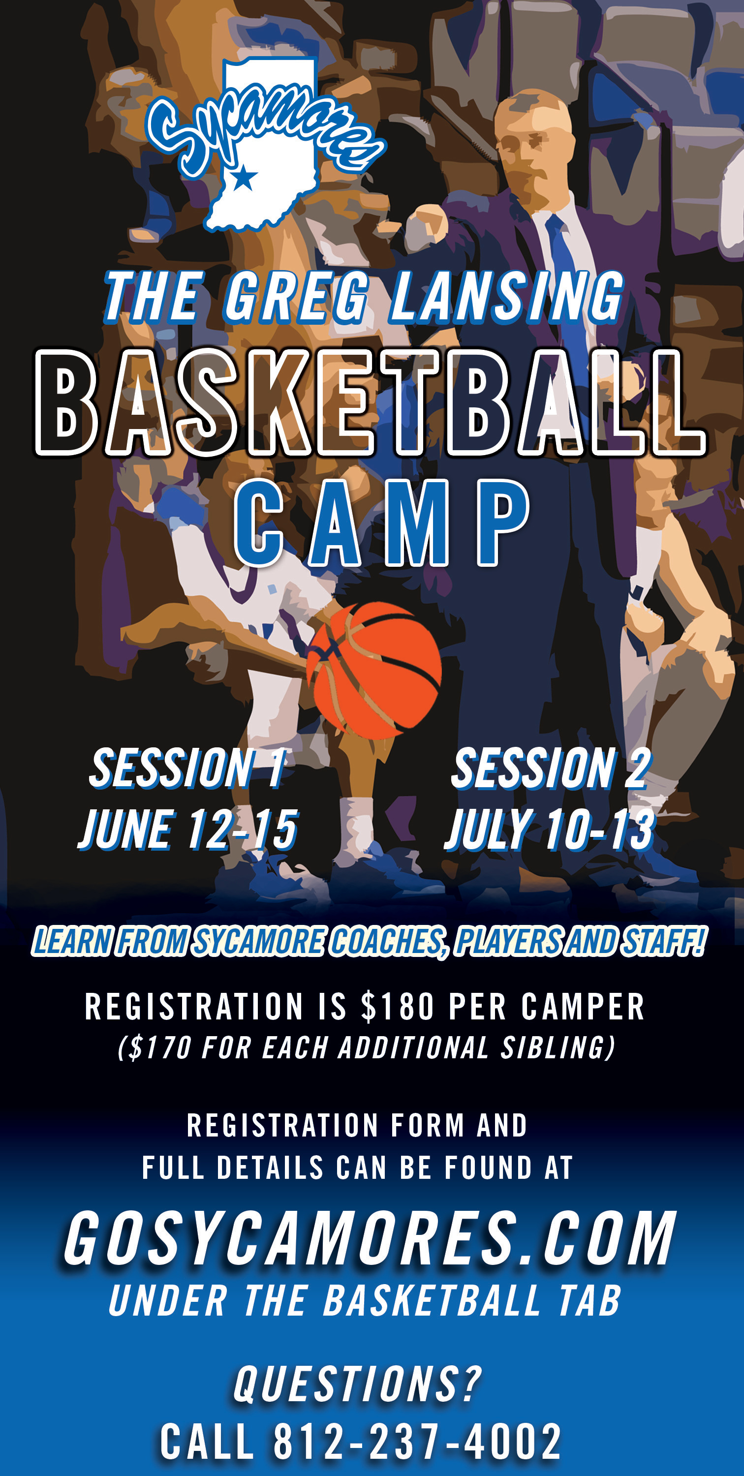 Basketball Camp Graphic