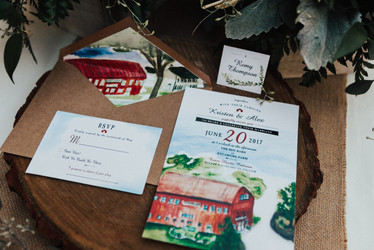 The Red Barn at Sycamore Farm Wedding Stationery