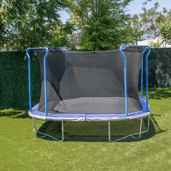 12ft Square Trampoline with Safety Enclosure