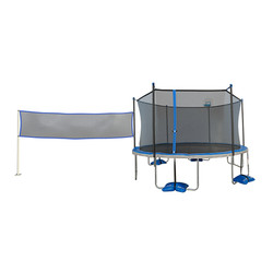 TruJump 14 ft Trampoline with Basketball, Badminton & Volleyball