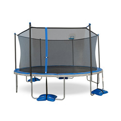 TruJump 15ft Trampoline with Airdunk Basketball System