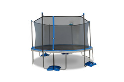 14ft Trampoline with Airdunk Basketball System