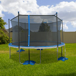 15ft Trampoline with Basketball Hoop