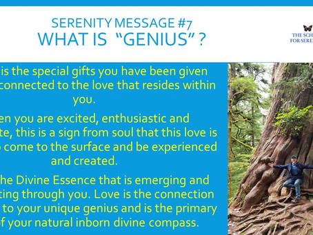 Serenity Message #7 - Your Genius and Gifts