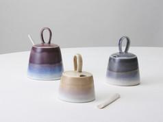 Tutone Lidded Vessels