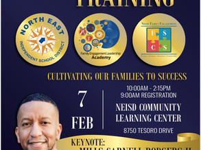 Upcoming Event- NEISD Family Engagement Training
