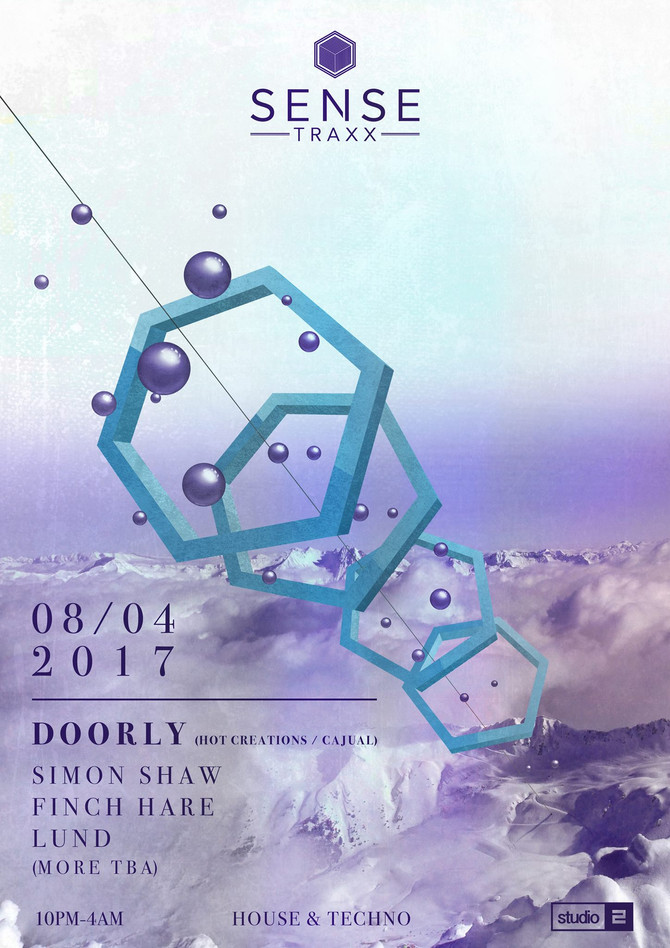 Sense Traxx Announce next party with DOORLY (Hot Creations, Cajual)